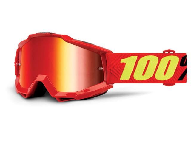 100% Accuri Anti Fog Mirror Goggles rød